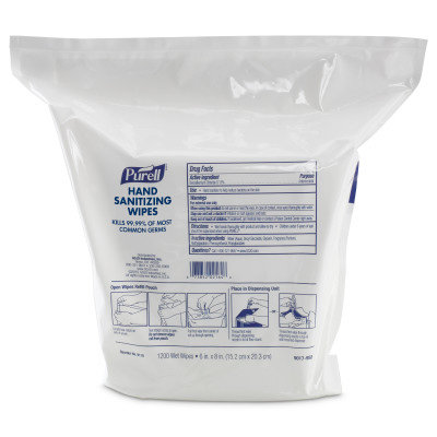 PURELL SANITISING WIPES REFILL 2x1200 WIPES