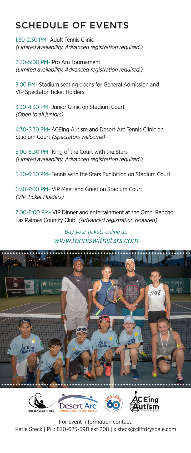 Calendario de eventos de tenis