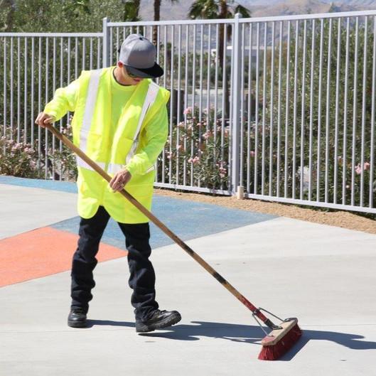 Desert Arc Landscape Maintenance - Client Sweeping Ground