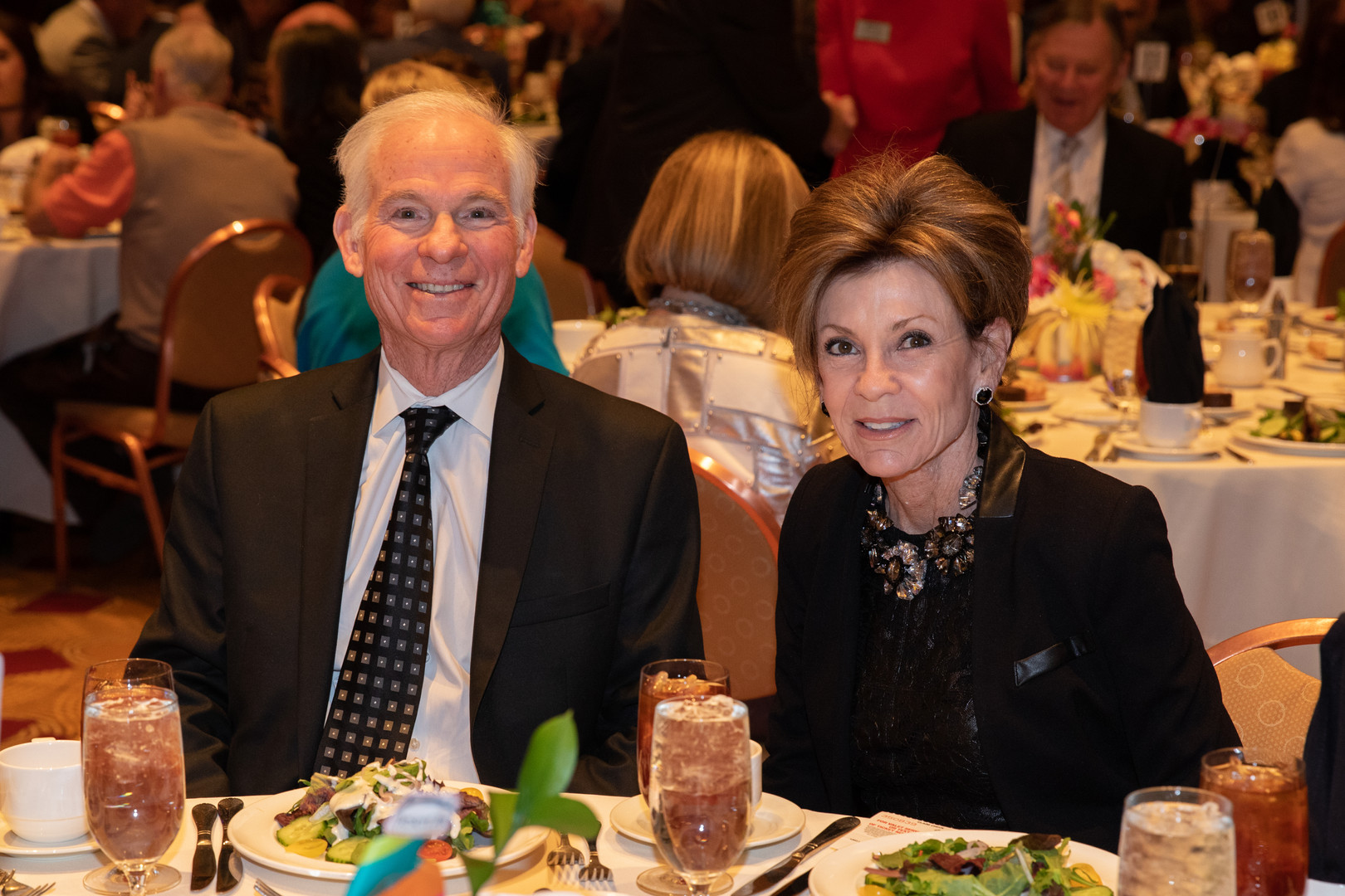 A couple attending the luncheon