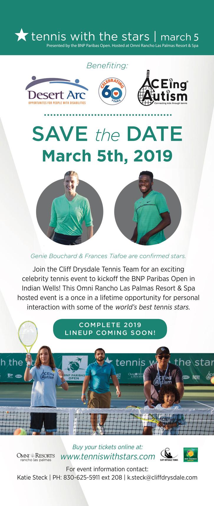 Reserve la fecha para el torneo de tenis