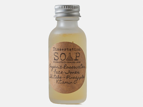 Shiitake, Pineapple, Vit. C Organic Rosewater Face Toner