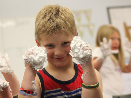Sensory Shaving Cream….With Letters!