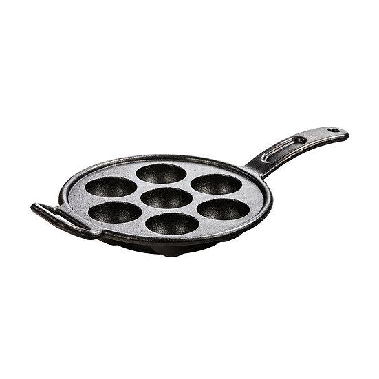 Lodge Pro Logic Cast Iron Aebleskiver Pan, 7 impressions/กระทะหลุมกลม 7 ช่อง
