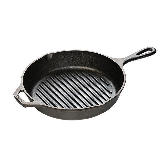 Lodge 26.04 cm Cast Iron Grill Pan/กระทะย่างกลมมีลาย 26.04 ซม.