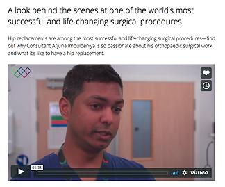 Arjuna Imbuldeniya London Robotic Hip Knee Consultant
