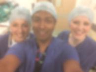 Mr Imbuldeniya and surgical team London
