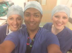Mr Imbuldeniya and his surgical team