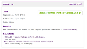 kingston msk cpd events hip knee