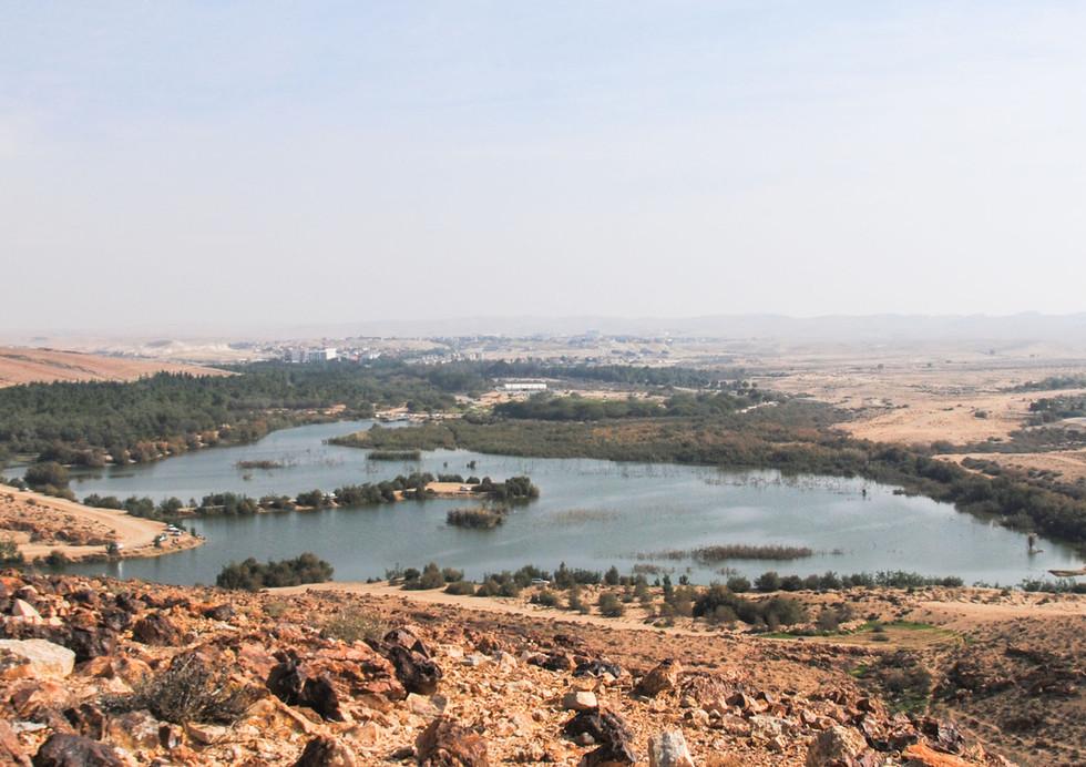 אגם ירוחם מבט מלמעלה