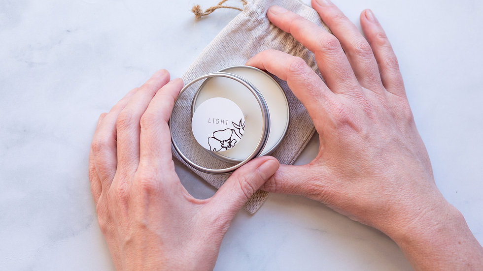 Hand-Poured Soy Unscented Soy Travel Candle