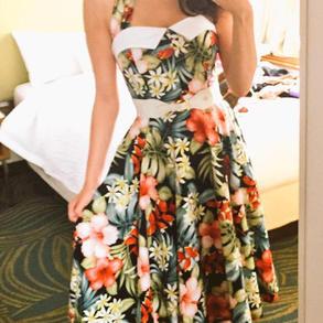 Tropical Retro Dress