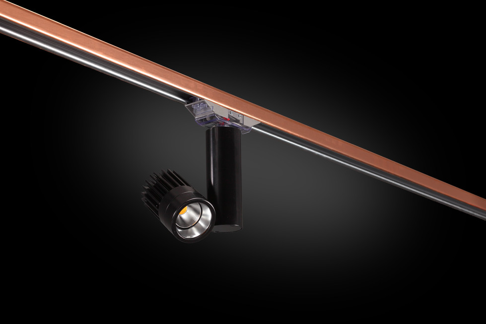 Architectural BusStrut, MB1600 Accent Light on Copper BusStrut