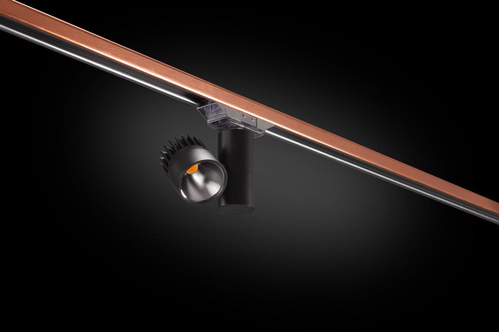 Architectural BusStrut,  MBM Spot Light on Copper