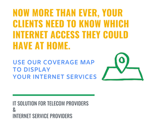 Convince Telecom Provider to use our coverage map to display their internet services.