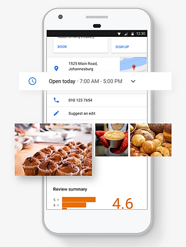 Show the features of Google My Business