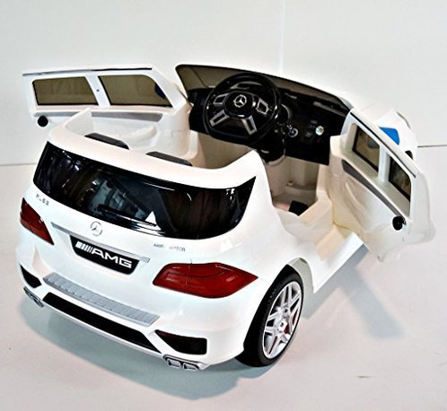 fully licensed 12v white mercedes benz ml63 amg kids ride on car alfresco fun are proud to announce that we are an official uk distribtuor of these