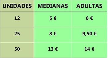 Tabla precios alimento vivo (langosta).j