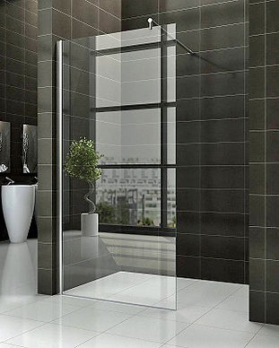 Frameless shower screen installed on the Central Coast