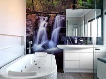 Feature Wall Bathroom