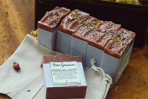 Rose Geranium Oat Milk Soap