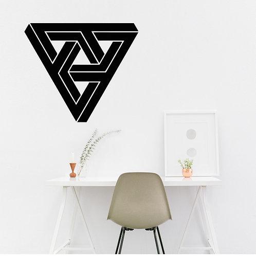 """Vinyle Géométrique """"triangle de triangles 2"""""""