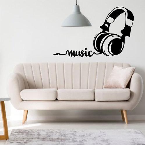 """Vinyle Music """"écouteurs musique"""""""
