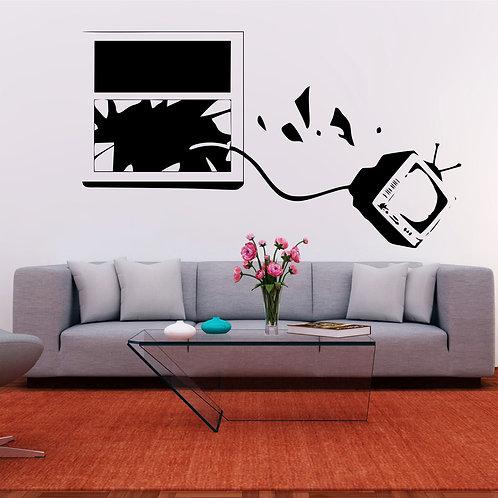 Vinyle Banksy TV crash