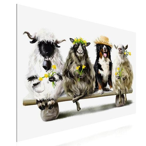 Tableau ferme animaux