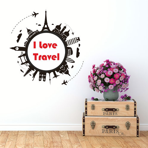 Vinyle I Love Travel