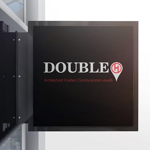 Caisson LEDS double face