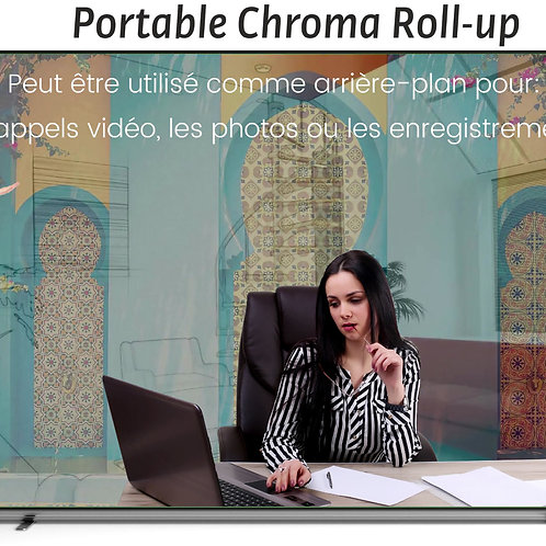 Portable Chroma Roll-up Télétravail