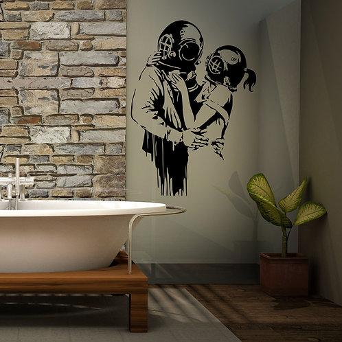 Vinyle Banksy love marine