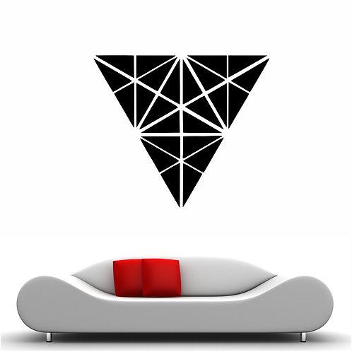 """Vinyle Géométrique """"triangle de triangles"""""""