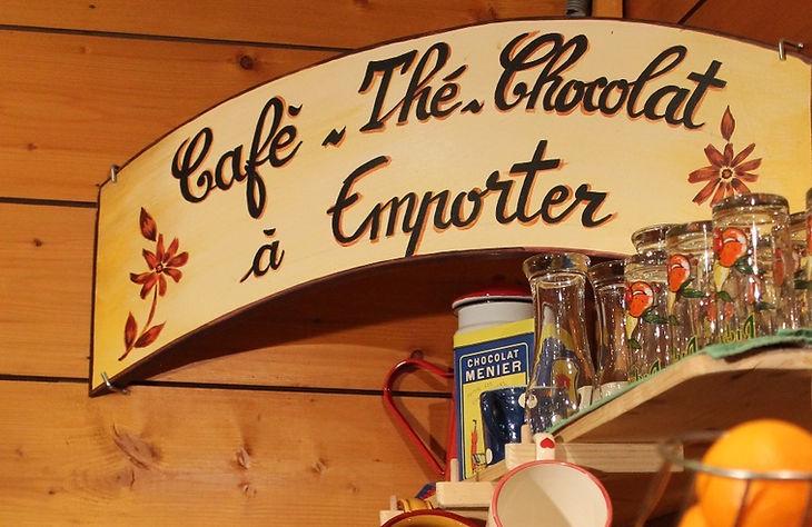 thé, café à emporter la chapelle d'abondance