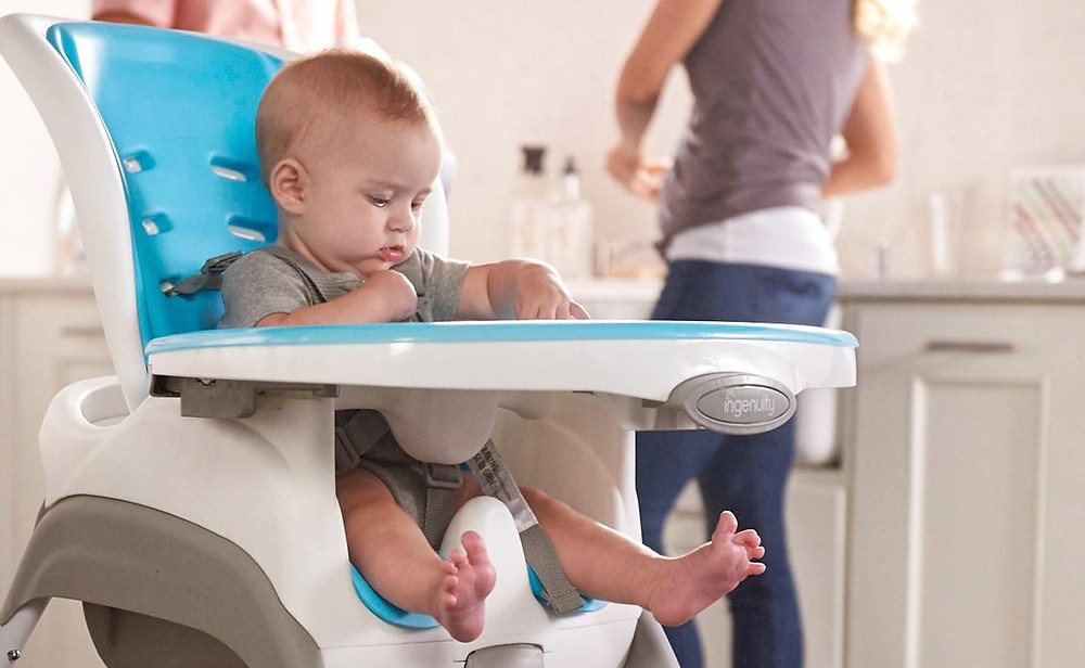 baby in highchair, weaning, antenatal classes, Bristol, Swaddling To Toddling
