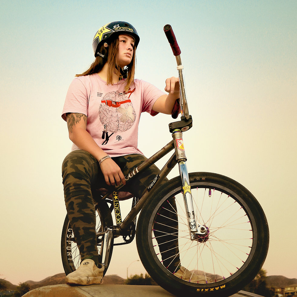 Pro BMXer Jesse Gregory wearing the Mentality by 2ZTD, a representation of the attitude of pushing through. A quick fix of duct tape and a sharp shock form a battery will get you back on the right state of mind to conquer the course. A common practice seen in skaters, BMX, motocross, athletes, snowboarders and other extreme sports.