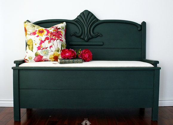 Re-purposed Antique Upholstered Bench