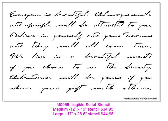 Illegible Script Stencil