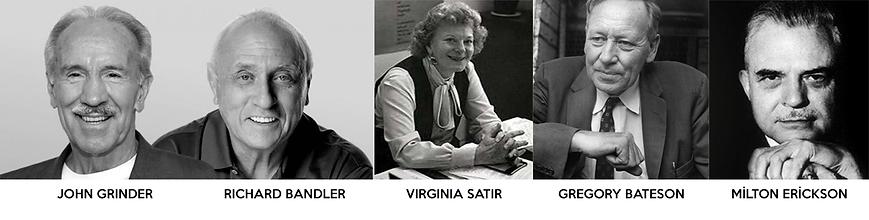 NLP-kurucuları-Virginia-Satir-Gregory-Bateson-Milton-Erickson-Richard-Bandler-John-Grinder