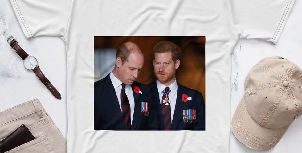 Custom Designed Prince William & Prince Henry Men's T-shirt