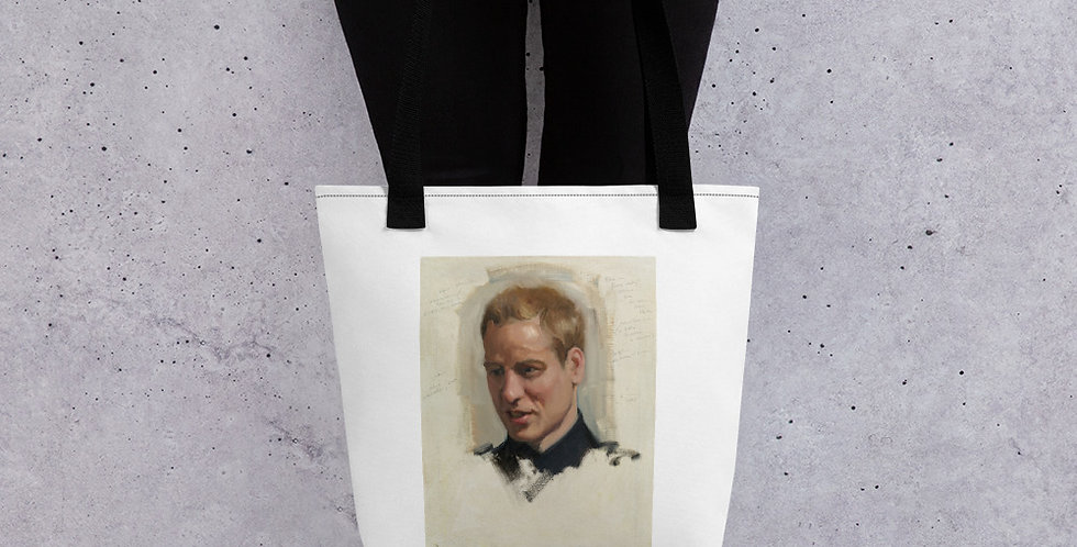 Premium Prince William Sketched Tote bag