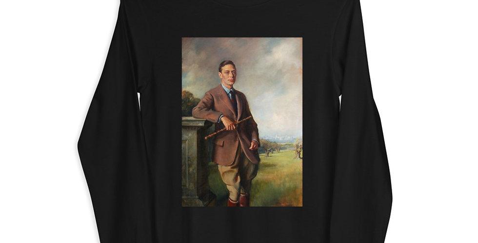 Portrait of King George VI Unisex Long Sleeve Tee