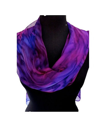 Silk Shawl - Foxglove Infinity