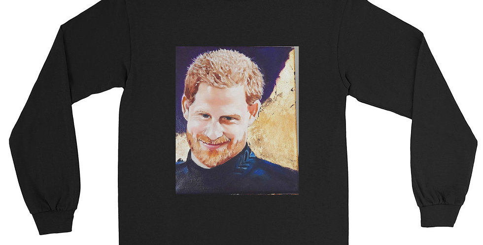 Personalised Prince Harry Royal Portrait Men's Long Sleeve Shirt