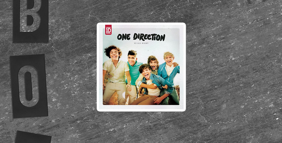 Personalised One Direction Up All Night Bubble-free stickers