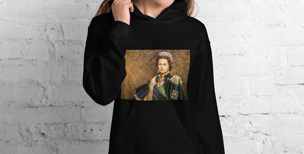 Personalised Alpha Made Queen Elizabeth II Unisex Hoodie