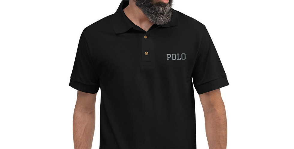 Classic Royal Embroidered Polo Shirt