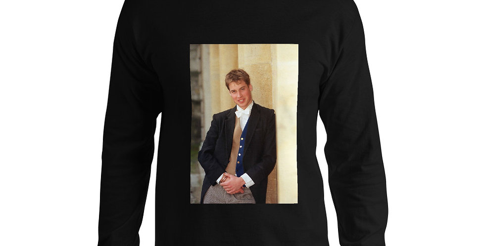 Custom Designed Young Prince William Men's Long Sleeve Shirt