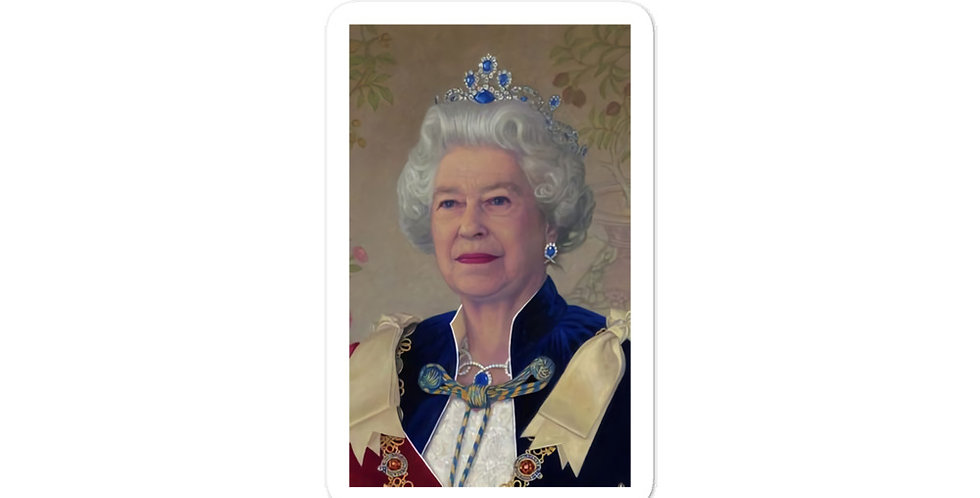Her Majesty Queen Elizabeth Portrait's Premium Made Bubble-free stickers